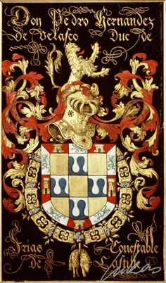 "(171) Pedro-Fernandez de Velasco, 3e duc de Frias (†1554-59?) -- ""Don Pedro Hernandez de Velasco, duc de Frias, conestable de Castille"" -- Armorial plate from the Order of the Golden Fleece, 1559, Saint Bavo Cathedral, Gent -- cf. Maurice, 1667, p.193 (brevet 167) : Don Pedro-Hernandez de Velasco, duc de Frias, Connestable de Castille."