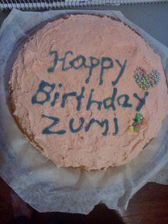 Zumi's Birthday cake. Vanilla.