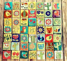 Tocetos de ceramica