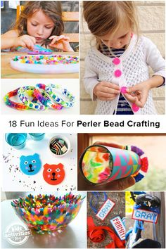 18 Fun Ideas For Perler Bead Crafting - my daughter loves creating with Perler Beads and now she has more projects to try! I'm loving the Perler Bead/Loom Band combo! Cute Crafts, Crafts To Do, Bead Crafts, Diy Crafts For Kids, Projects For Kids, Art For Kids, Ornament Crafts, Christmas Ornament, 8bit Art