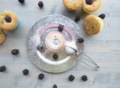 Muffin vegani con farina di riso e more #lactosefree