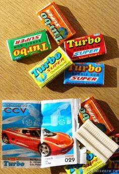 chewing on Turbo gums and collecting cars and then exchanging the duplicates with my neighbours :)