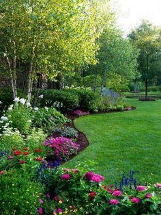 80 Beautiful Front Yard Cottage Garden Landscaping Ideas – Homekover - New ideas Landscape Plans, House Landscape, Landscape Design, Landscape Bricks, Small Front Yard Landscaping, Backyard Landscaping, Landscaping Ideas, Landscaping Borders, Landscape Front Yards
