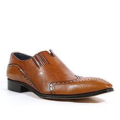 7ad2152f740 Duca Italian Mens Shoes Brown Leather Loafers (D1000) Italian Shoes For Men