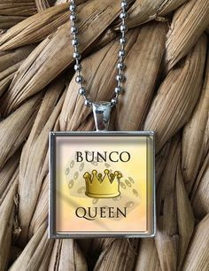 Bunco Queen Pendant Necklace by MoonPoppyDesigns on Etsy