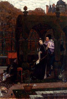 James Jacques Joseph Tissot (1836-1902), Le RendezVous, Oil on panel
