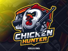Chicken Hunter White Version designed by Irvan Ramdani. Connect with them on Dribbble; the global community for designers and creative professionals. Team Logo Design, Mascot Design, Identity Design, Brand Identity, Logo Esport, Typography Logo, Chicken Logo, Graffiti, Esports Logo