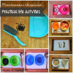 Montessori practical life ideas from Welcome to Mommyhood