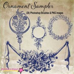 Check out Decorative Ornament Sampler Brushes by popstock on Creative Market