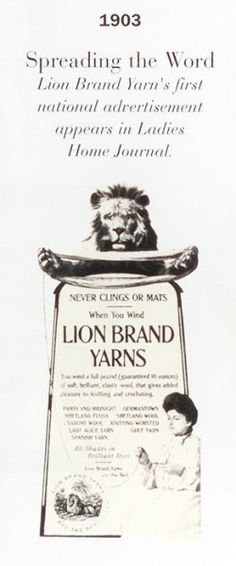 Old Lion Brand ad (1903)