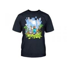 Minecraft is a hit video game. The player builds structures to protect against monsters of the night. There are also opportunities to advneture, fight battles or visit the land of mushrooms. This officially licensed shirt commemorates the game. Wear it proudly and build on. $25.95 #minecraft #tshirt #mens #clothing