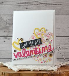 You Are My Valentine Card by Amy Sheffer for Papertrey Ink (December 2015)