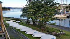 Opti or Laser racing anyone?  The Puerto Williams sailing club.  We had a dinner/barbecue at the club three weeks later - our last night in Puerto Williams.  Great fun people!