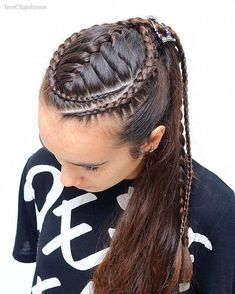Long Box Braids: 67 Hairstyles To Upgrade Your Box Braids - Hairstyles Trends Dance Hairstyles, Box Braids Hairstyles, Loose Hairstyles, Pretty Hairstyles, Teenage Hairstyles, Curly Hair Styles, Natural Hair Styles, Hair Inspiration, Hair Makeup
