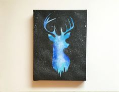 Deer Original Acrylic Painting 6x8 Inches By by JanelleAnakotta