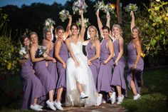 Rustic Chic Maryland Affair - United With Love Dusty Purple Bridesmaid Dresses, Converse Wedding Shoes, Wedding Bridesmaid Dresses, Converse Shoes, Purple Wedding, Chic Wedding, Dream Wedding, Fall Wedding, Bridesmaids