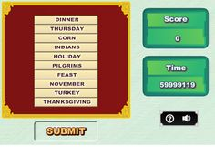 Interactive Education: Thanksgiving ABC Order