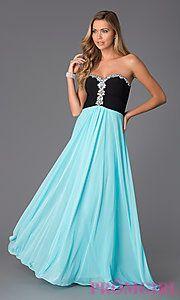 Buy Strapless Sweetheart Floor Length Dress by Blondie Nites at PromGirl
