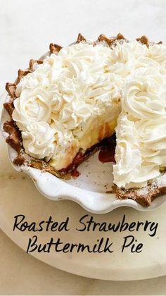 Unique Desserts, Just Desserts, Delicious Desserts, Yummy Food, Autumn Desserts, Cream Pie Recipes, Tart Recipes, Baking Recipes, Pie Dessert