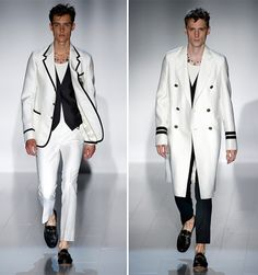 Menswear Gucci spring summer 2015: elegant white men's clothing
