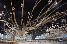 The Journey Tree - DesignLab Experience Dubai Wedding, Wedding Events, Weddings, Hotels For Kids, Stage Set Design, Hotel Room Design, Gala Dinner, Christmas Lights, Wedding Planner