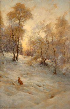 Joseph Farquharson Gallery | Fox and Pheasant in the Snow , Joseph Farquharson