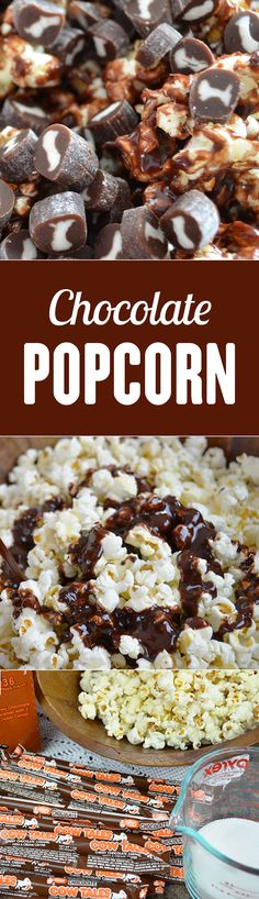 Sweet and salty! This is the best chocolate popcorn recipe I've tried so far! It's super easy and delicious. Save this snack recipe for movie night or a snow day.