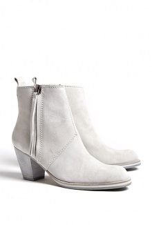 Acne grey suede finish pistol boots