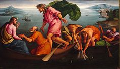 Jacopo Bassano - The Miraculous Draught of Fishes, National Art Gallery Washington DC. National Art, National Gallery Of Art, Art Gallery, Canvas Art Prints, Oil On Canvas, Sons Of Zebedee, John Chrysostom, Fish Artwork, Catechist