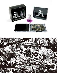 """Cube Juice"" Ad & CD jacket|Graphic Design|CLIENT: Victor Entertainment, Inc."