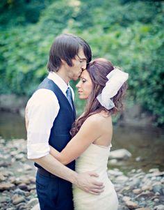 wedding shot Romantic Woodland Wedding: Ingrid + Brian