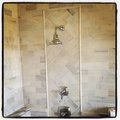 Master shower done in carrera marble. #louisville #custom #builder #stonecrofthomes #newconstruction #tile #carrera #marble #interiors #interiordesign #shotoftheday #bestoftheday #photooftheday #picoftheday #lovehome #nortoncommons #instagood #instagramhomes