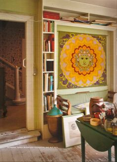 Bjorn Wiinblad Sun Tapestry! Stig Lindberg, Tove Jansson, Alvar Aalto, Royal Copenhagen, Moomin, Scandinavian Modern, Tapestry Weaving, Beautiful Interiors, Needlepoint