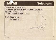 Telegrams: I Am Still Alive | On Kawara