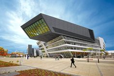 Zaha Hadid's Library and Learning Centre at the Vienna University of Economics and Business.