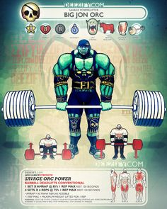 leg exercise: barbell deadlifts conventional - orc