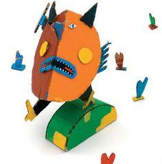 Artist in LA LA Land Illustration: Recycled Cardboard Paper Toys of Andre da Loba