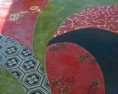 stenciled decorative concrete floor | Stenciled Concrete and Overlays —through the use of paper stencils ...
