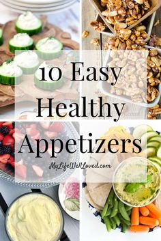 Healthy Appetizers that are so good you won't even know they're good for you! Clean eating, paleo, no sugar added and low carb options rounded up for your next party! // My Life Well Loved // Heather Brown at My Life Well Loved