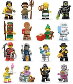 LEGO Minifigures Series 11 Complete Set of 16 minifigures 71002 Female Scientist Lego Mario, Lego Jurassic, Lego Minifigs, Lego Projects, Lego Building, Toy Boxes, Legos, Bowser, Ebay