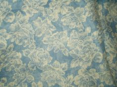 The Gatherings Antique Vintage - Vintage 1950s Blue Floral Cotton Dress Quilt Fabric Yardage, $35.00 (http://store.the-gatherings-antique-vintage.net/vintage-1950s-blue-floral-cotton-dress-quilt-fabric-yardage/)