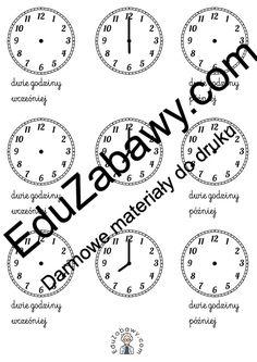 Karty pracy - zegar, klasa 1, 2, 3 do wydruku za darmo dla nauczycieli Arabic Calligraphy, Math Equations, Arabic Calligraphy Art