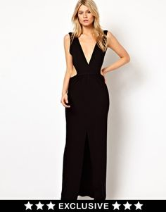 Image 1 ofLove Maxi Dress With Plunge Neck and Cut Out