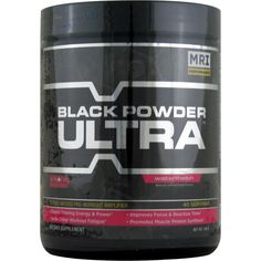MRI Black Powder Ultra Watermelon 40 svg 240 g | Regular Price: $59.99, Sale Price: $37.99 | OvernightSupplements.com | #onSale #supplements #specials #MRI #EnergyBooster  | 7x Performance AmplificationMRI Black Powder Ultra is a groundbreaking pre workout formula forged from the very latest in emerging research of performance nutrition Engineered to drive unprecedented workout proficiency Black Powder Ultra aggressively targets and engages 7 key factors that drive training c