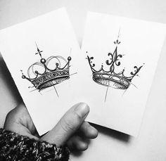 his and her crown tattoo designs , seine und ihre krone tattoo designs , Tattoo Drawings, Body Art Tattoos, New Tattoos, Tatoos, King Tattoos, Sketch Tattoo, Sleeve Tattoos, Badass Tattoos, Small Tattoos