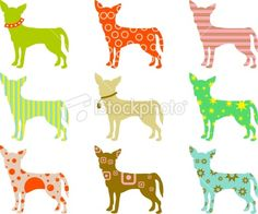 Chihuahua - fabric bits, fusible webbing, canvas, any animal silhouette you like.