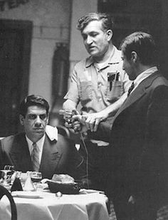 Al Pacino on the phone set of The Godfather 1972