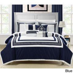 Venice 7-piece Cotton Comforter Set | Overstock.com Shopping - Great Deals on Comforter Sets Grecian navy & white bedding for a Grecian/Mediterranean bedroom?