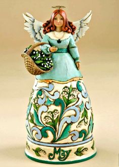 May Birthday Angel from Jim Shore Heartwood Creek by Enesco