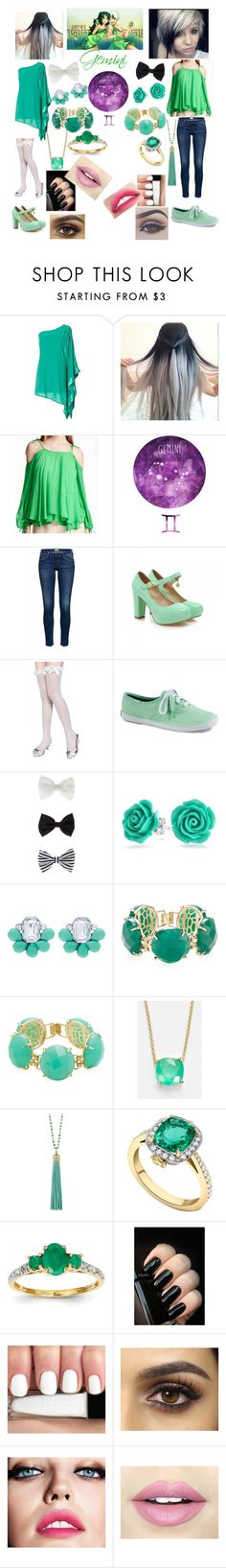 """""""Gemini"""" by animewolfspirit1997 ❤ liked on Polyvore featuring Charming Kicks, Keds, Accessorize, Bling Jewelry, Kendra Scott, Kate Spade, Elizabeth Raine, Kevin Jewelers, Bellezza and Maybelline"""